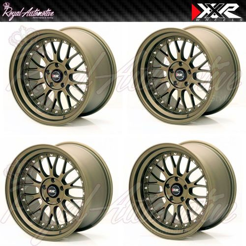 XXR 521 Deep Dish Alloy Wheels 18 x 8.5 / 10 Staggered ET25 5x114.3 Flat Bronze